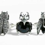 Set de anillos de color plata de Bershka