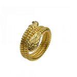 Sortija con forma de serpiente en oro amarillo de Aristocrazy