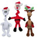 7. Juguetes de peluche con sonidos navideños para perros de Paticas