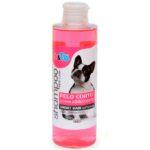 Champú suavizante de aceite de argán y pantenol para perros de pelo corto, de Io&Te (4,80 euros los 200 ml)